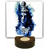YaYa Cafe Artistic Lord Bhagwan Shiv Tealight Candle Holders Set Of 1 | Tea Lights T-lights Candles Diyas Lights For Home Decoration Items Home Decor | God Idols For Puja Room| Corporate Gifts