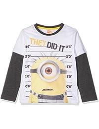 Minions Despicable Me Chicos Camiseta Mangas Largas - Blanco