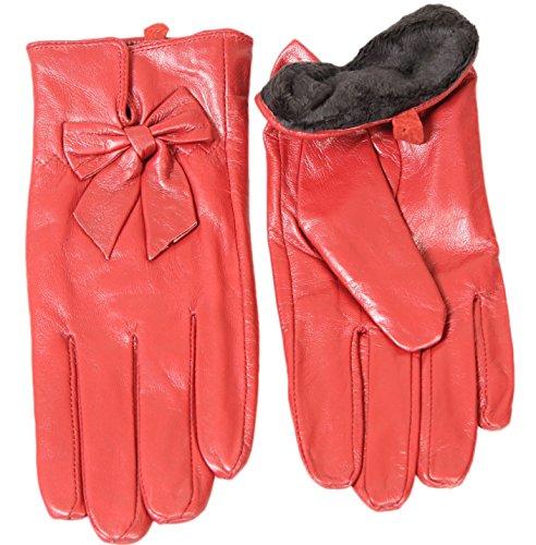 secretdressing-paire-de-gants-en-cuir-agneau-interieur-fourrure-synthetique-couleur-rouge-taille-8-i