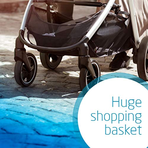 Maxi-Cosi Zelia Baby Pushchair, Lightweight Urban Stroller from Birth, Travel System with Bassinet, 0 Months - 3.5 Years, 0 - 15 kg, Sparkling Grey  Dorel UK Limited