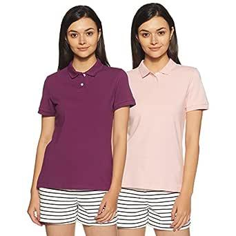 Amazon Brand - Symbol Women's Plain Polo (Pack of 2)
