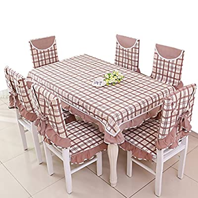 Nasis fresh-style coffee table cover plaid design table cloth with lace AL8068