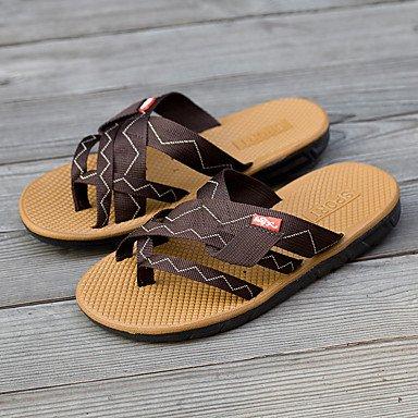 Informale all'aperto sandali piani del tallone pelle Slippers & Estate Luce Soles microfibra maschile sandali US10 / EU43 / UK9 / CN44