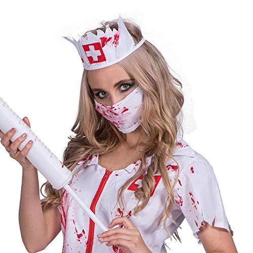 (Halloween Erwachsenen Kostüm, Beängstigende Krankenhaus Rollenspiel, Doktor Krankenschwester Blutige Kostüm, Bühnenperformance (Standard Größe))