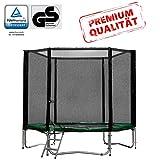 Baunsal GmbH & Co.KG Gartentrampolin Trampolin 183 bis 185 cm in grün mit Sicherheitsnetz und...