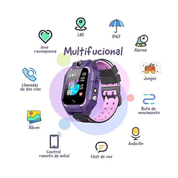 NAIXUES 2020 Smartwatch Niños, Reloj Inteligente para Niños Impermeable 67 con Linterna, SOS, LBS, Comunicación… 2