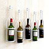 Kreativer Wandhalter für Weinregal aus Eisen, A