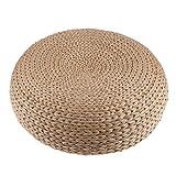 Baoblaze Sitzpolster Stroh & Rattan Sitzkissen für Boden Esszimmer Stuhl Bürostuhl