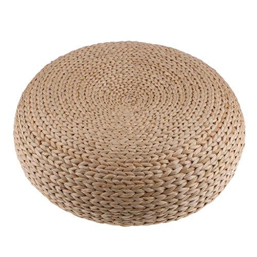 Baoblaze Sitzpolster Stroh & Rattan Sitzkissen für Boden Esszimmer Stuhl Bürostuhl -