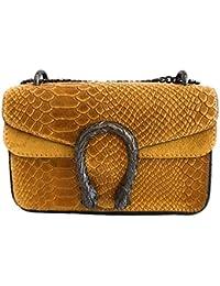 fcd596bdfd MASSIMA BARONI- Borsa da donna in pelle. Modello Portofino Mini. Borsa a  tracolla o tracolla. Un Gioiello Elegante, Classico e Senza Tempo per…