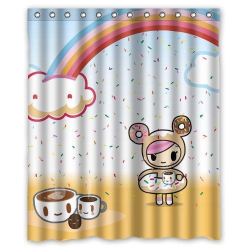 """Tokidoki Donutella Custom Shower Curtain 60""""x 72"""""""