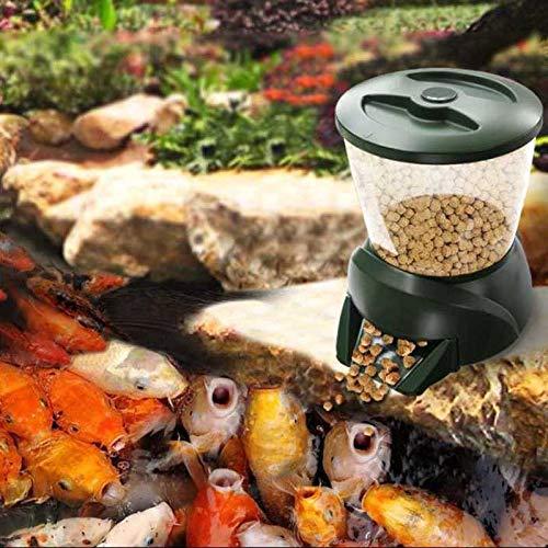 Alimentador automático de peces de estanque Dispensador de alimentos para peces Acuario digital Temporizador del alimentador del tanque Máquina de alimentación de alimentos Auto alimentador de peces