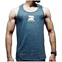 Devoted Men's Gym Tank Top Body Building VestGreen- Elegant(Green_Medium)