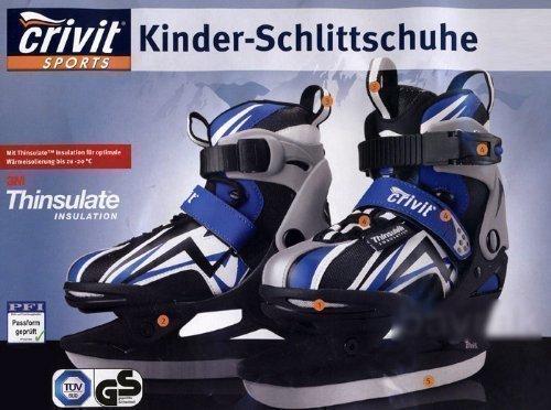 Kinder Schlittschuhe Schlittschuhe Gr. 28-31 Thinsulate NEU blau/weiß