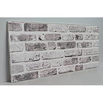 Steinoptik Wandverkleidung f/ür Wohnzimmer Terrasse oder Schlafzimmer in Klinkeroptik Look. K/üche ST 353-110