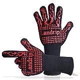 Landrip BBQ Gloves, 932 ºF Extreme Heat Resistant Grill Gloves - EN407 Certified