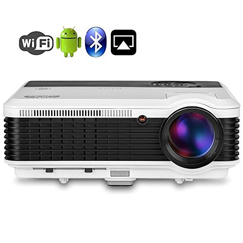 Video Proyector inalámbrico WiFi Bluetooth - Proyector LCD LED Soporte Airplay Miracast...