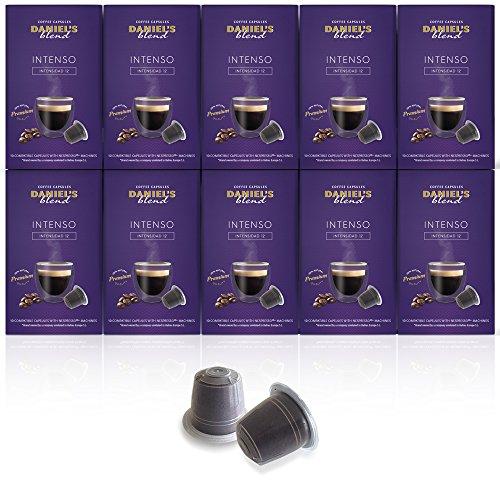 DANIELS BLEND - 100 Cápsulas de Café Compatibles con Máquinas Nespresso - INTENSO