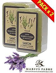 Marius Fabre Savon de Marseille - Savonnette ˆ l'huile d'olive, parfumŽe ˆ la Lavande 250g - Savonnettes...