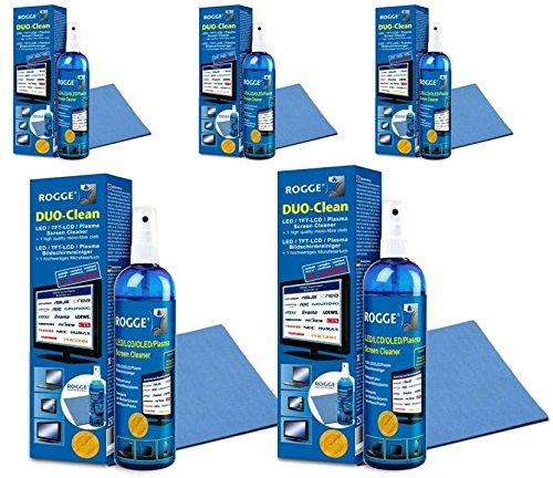 Rogge Duo-Clean - Juego de 5 limpiadores de 250 ml para pantallas...