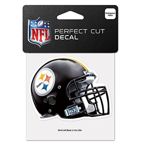 Wincraft NFL Pittsburgh Steelers 95765010perfekten Schnitt Farbe Aufkleber, 10,2x 10,2cm schwarz