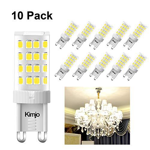 Lampadine G9 LED Kimjo 5W Pari a Lampada Alogena da 40W Bianco Fredda 6000K 400LM 80Ra 230V Non Dimmerabile 10 Pezzi