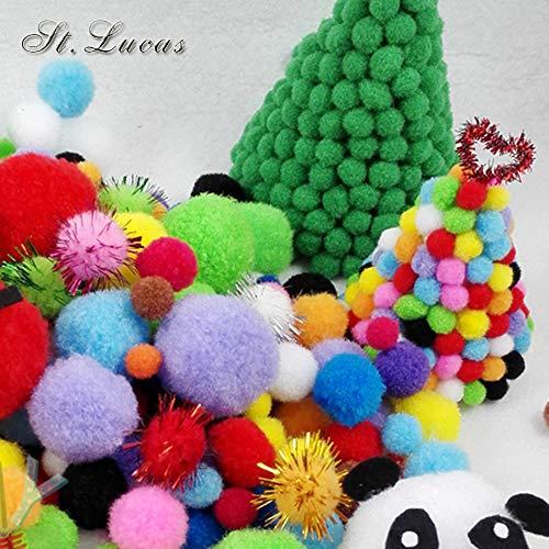 Lace Crafts - 50 bolas pompón poliéster 15 mm decoración
