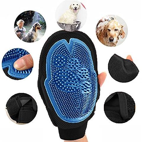 Gluckliy Haustier Hund Katze Pflege Massage Mitt Haarentfernung Kamm Bad Bürsten Handschuhe