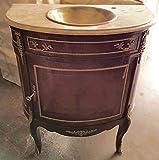LouisXV Barock Tisch Bad Möbel Badezimmer Wasch Becken MkBa0029 antik Stil Massivholz. Replizierte Antiquitäten Buche Antikmessing.