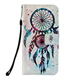 Prechkle 3D Colorful Painting Phone Case for HUAWEI Honor 8X MAX Premium PU Leather Wallet Bumper Cover with Card Slots, Kickstand Feature, Magnetic Closure(Wind Chime).