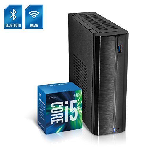 Kiebel Business Mini PC Nano 8.0 [190150] Intel Core i5 8500T 6x2.1GHz Sixcore (Turbo bis 3.5GHz), 8GB DDR4, 240GB SSD, Intel Grafik bis UltraHD(4K), HTPC, WLAN (433Mbit), Bluetooth, Energiespar Mini Computer