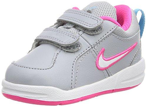 Nike Unisex-Kinder Pico 4 (TDV) Tennisschuhe, Mehrfarbig (Wolf Grey/White-Clearwater-Pink Pow 010),...