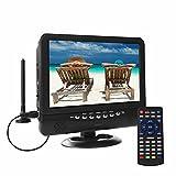 Téléviseur LCD Portable, Tuner numérique DVB-T2, avec Batterie de Recharge, Costume pour Pays européen, possibilité de Regarder Le Programme télévisé à l'intérieur ou à l'extérieur