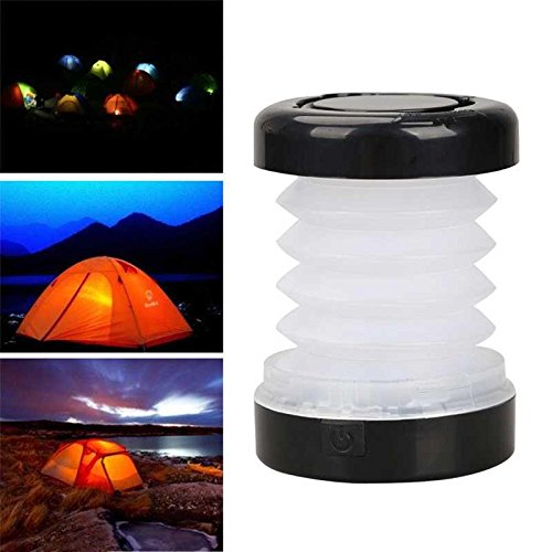 Led Hand-laterne (Haihuic Mini Hand Kurbel Batterie Macht Camping gefaltete Laterne LED tragbare skalierbare Licht Lampe)