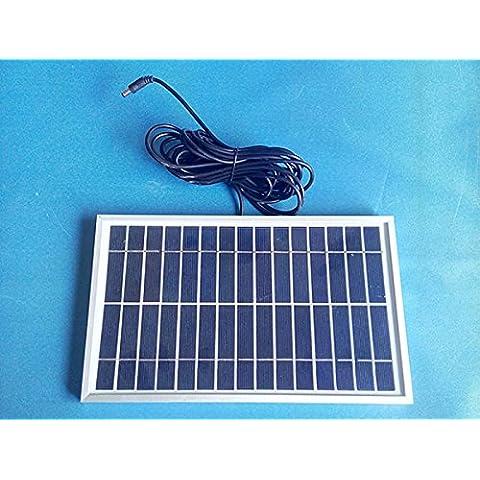10W Panel Solar Alta eficiencia Solar Sistema de CC, 12V, 5Ah Batería de litio, 5M Cable, 24horas Tiempo de servicio eeach Luz LED