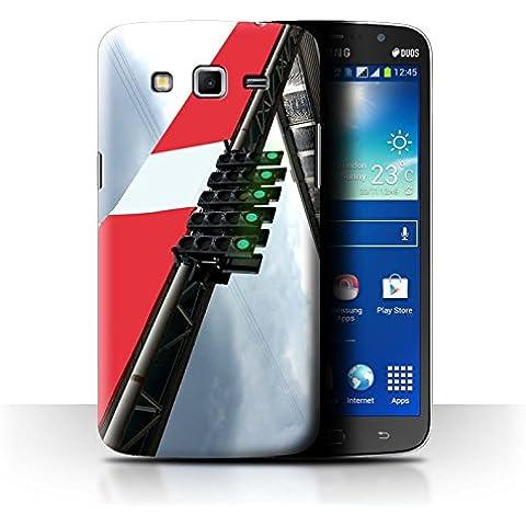 Carcasa/Funda STUFF4 dura para el Samsung Galaxy Mega 5.8 / serie: Pista Carreras Foto - Inicio Luces Cuadrícula