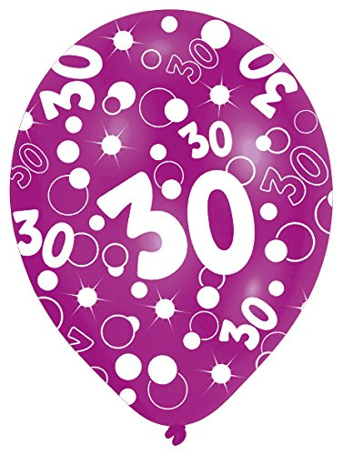 happy birthday 30 geburtstag deko set girlande 6x ballons. Black Bedroom Furniture Sets. Home Design Ideas