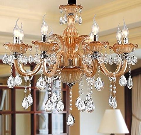 Gowe Lampes 6lumière lustre en cristal lumière lustre en cristal de luxe moderne Lampe à Poser Salon Bougie Cristal éclairage Lobby