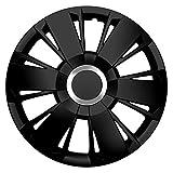 15 Zoll Radzierblenden SPORTIVO BLACK (Schwarz). Radkappen mit Chromring passend für fast alle VW Volkswagen wie z.B. Käfer