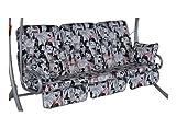 Angerer Exklusive Schaukelauflage 3-Sitzig Design Audrey, grau, 180 x 50 x 70 cm, 1020/204