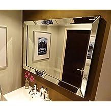 colmore edler wandspiegel mit spiegelrahmen 80x60cm spiegel glasrahmen