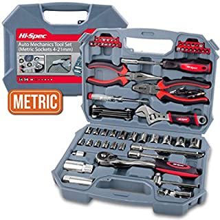 Hi-Spec 67 Piece METRIC Auto Mechanics Tool Kit including Professional 3/8