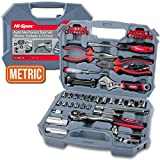 67 Piece Apollo Auto Mechanics Tool Kit including Professional 72 Teeth Quick Release