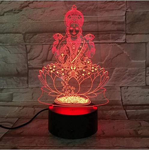 USB 3D LED Nachtlicht Hinduismus Figur Religion Gläubige dekorative Lichter RGB Geschenk Schreibtisch Lampe Schlafzimmer