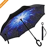 La ringrazio molto per la vostra visita.  Speriamo che i nostri prodotti renderà la vostra vita un po 'meglio! Come mostrato in Fig!  ☂ Manico a forma di C, conveniente, modello fantasia, moda innovativo!   ☂ Si tratta di un ombrello design unico, no...