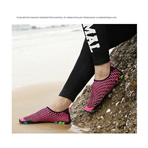 Eagsouni® Unisex Strandschuhe Aquaschuhe Schwimmschuhe Barfuß Schuhe Badeschuhe Wasserschuhe Surfschuhe für Damen Herren Rose