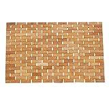 Bambus aufrollbar faltbar Bad Dusche Spa Badteppich 60 x 40 x 0.5 cm