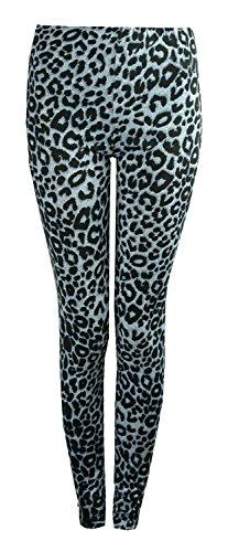 Fast Fashion Damen Leggings Plus Size Tier Leopard Zebra Tie-Dye- Schädeldruck Viskose -