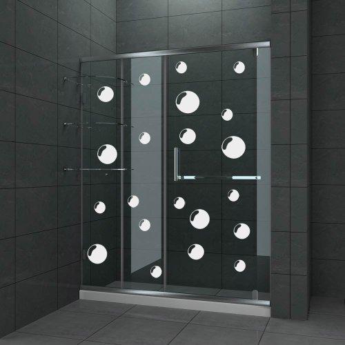 Bubbles Bathroom Shower Screen Door Tile Decal Sticker Set X21 Stickers  (ETCHED EFFECT)