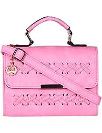 Moedbuille Pink Polyurethane (PU) Sling Bag - B074W32HPW